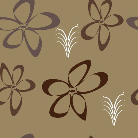 Abstract floral seamless  - vector illustration. You can use it to fill your own background. Vector
