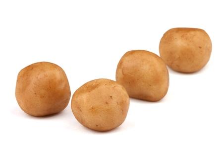 Marzipan balls (potatoes) isolated on white background. Stock Photo - 11157625