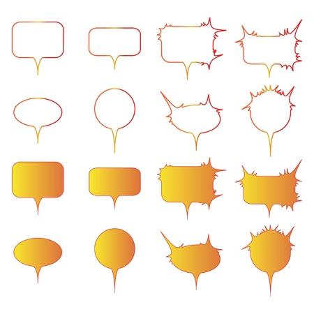 Set of speech bubbles om white background - vector illustration. Vector