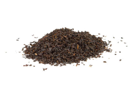 Pure Ceylon black tea on white background - from Kandy in Sri Lanka. Stock Photo - 12582737