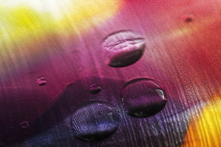 Abstract rainbow colors with water drops for background  photo