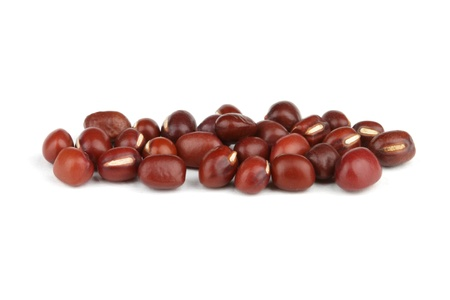 Adzuki beans isolated on white background  photo