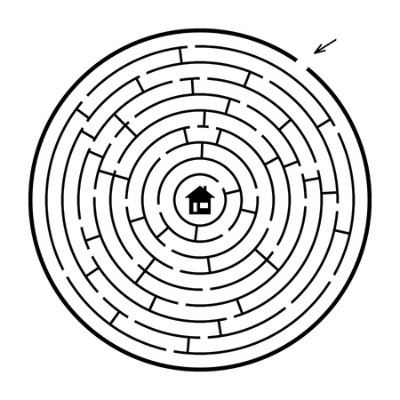 A round maze - illustration  Easy editable colors  Vector