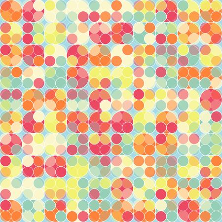 Mosaic seamless made from colored dots - vector illustration  You can use it to fill your own background  Vector