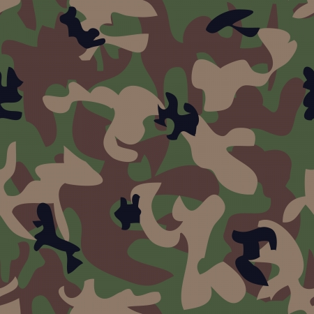 Military seamless pattern  -  illustration  You can use it to fill your own background