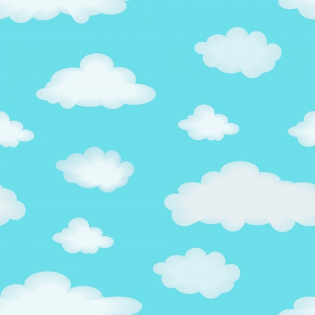 clouds background: Abstract seamless pattern with clouds for background - illustration  You can use it to fill your own background  Illustration