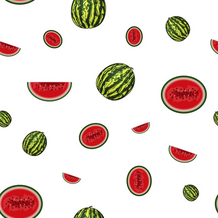 Water melon with seeds - illustration. You can use it to fill your own background. Vector