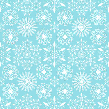 Snowflakes seamless pattern for background - vector illustration. You can use it to fill your own background. Vector