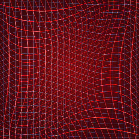 Abstract nets, vector illustration on red background Vector