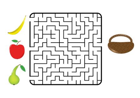 Maze game for children.  Illustration