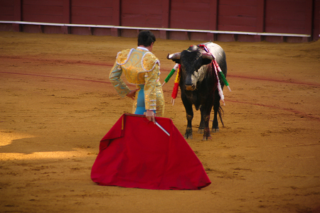 Bullfight in Seville. Spain.