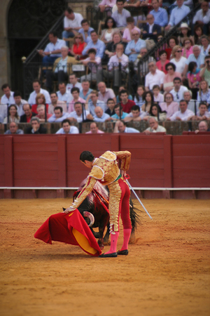 Bullfight in Seville. Spain.