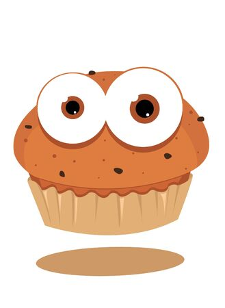 cute muffin looking at camera Stock Vector - 15616530