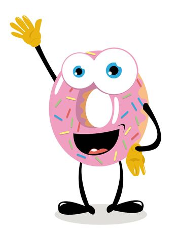 a funny donut cheering Stock Vector - 15616532