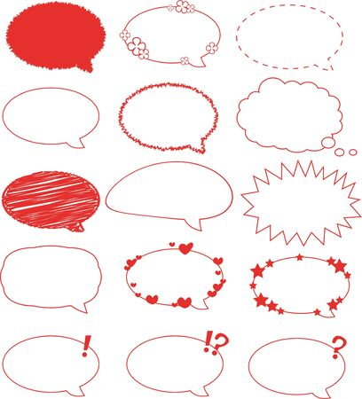 a cartoon representing a set of 15 different balloons Stock Vector - 15616449