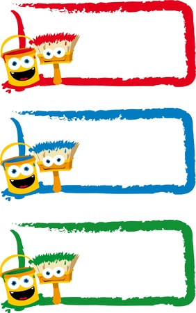 3 funny frames in different colours Stock Vector - 15616440