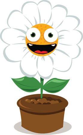 a cartoon representing a funny daisy smiling Stock Vector - 15616486