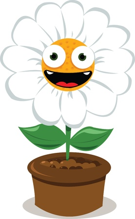 a cartoon representing a funny daisy smiling Stock Vector - 15616486