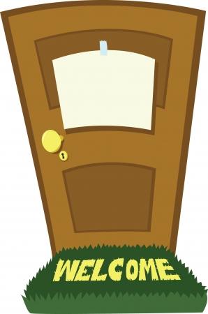 doorframe: una puerta con un canto en blanco