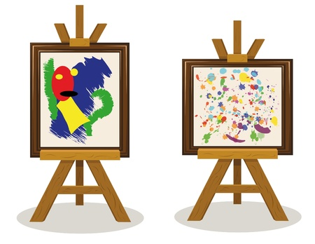 two modern art pieces Illustration