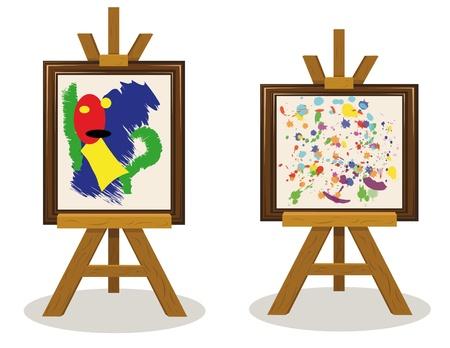 two modern art pieces Stock Vector - 15616465