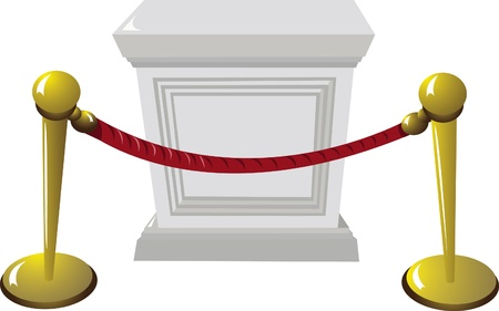 plant stand: An empty pedestal in a museum Illustration