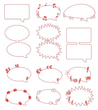 a set of balloons Vector