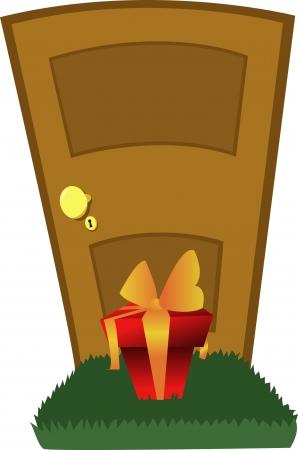 doorframe: Un regalo inesperado en espera de ser notado Vectores