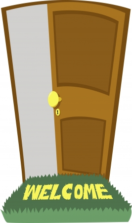 a door open Illustration