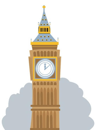 a cartoon representing the Big Ben, in London Stock Vector - 21705821