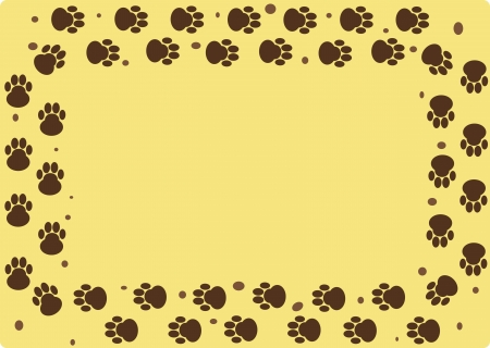 dog tracks Vector