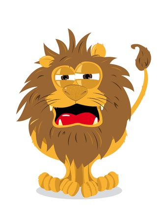 Funny Lion Roaring Stock Vector - 21959380