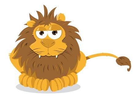 Lion sitting Stock Vector - 21959567