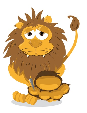 Lion and Thorn Stock Vector - 21959568