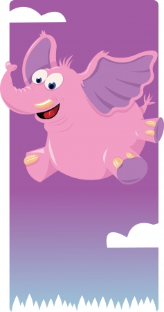 Funny Pink Elephant Stock Vector - 21942998