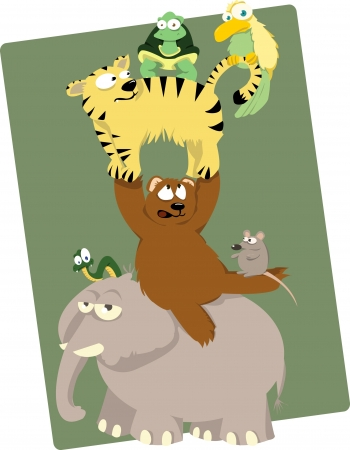 Funny animals Stock Vector - 21959574