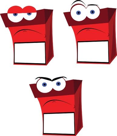 cigarette pack: a vector cartoon representing a funny cigarette box with copy space