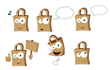 a vector cartoon representing a funny shopper bag Stock Vector - 21759905
