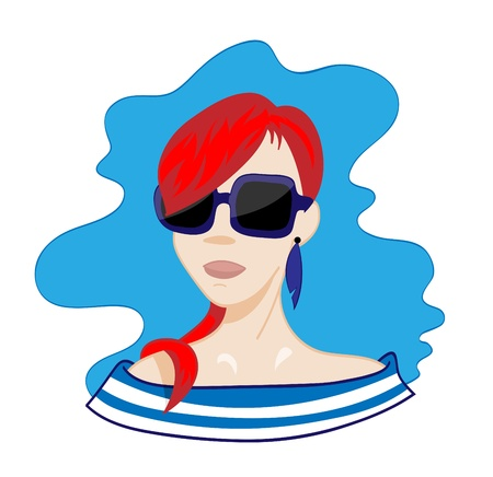 redhair: Red hair woman