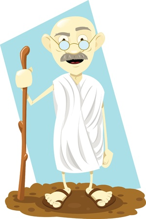 a vector cartoon representing a funny indian guru   Illustration