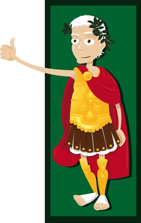 holy roman emperor: Funny Julius Caesar  Illustration