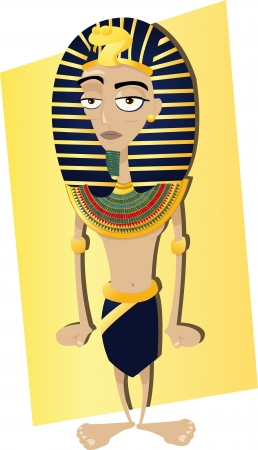 pharaoh: a vector cartoon representing a funny Egyptian Pharaoh Illustration