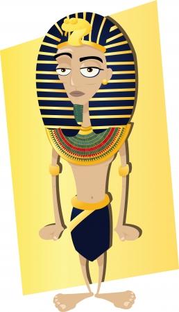 nile river: a vector cartoon representing a funny Egyptian Pharaoh Illustration
