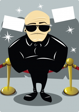 A body guard in the Oscars night Illustration