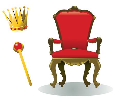 trono: todo lo que necesita para ser un rey, además de un reinado, por supuesto Vectores