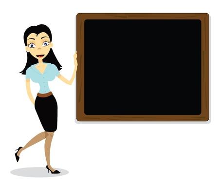 Cute Teacher Stock Vector - 21959578