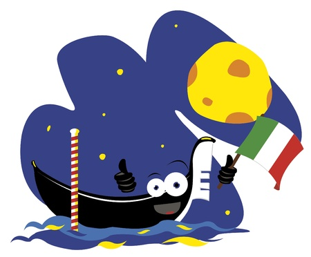 Funny Venetian Gondola Stock Vector - 21959582