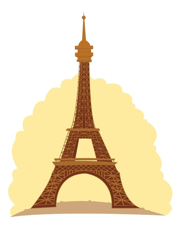 a cute vector illustration representing the Eiffel Tower Stock Vector - 21769440