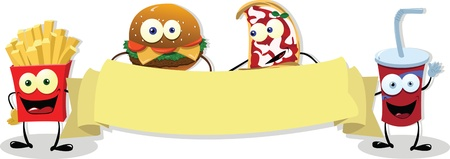Fast Food Banner Illustration