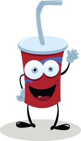 cocacola: A funny fast food drink saying hello